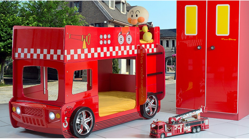B137s Speedy Fire Engine Bunk Bed Collection