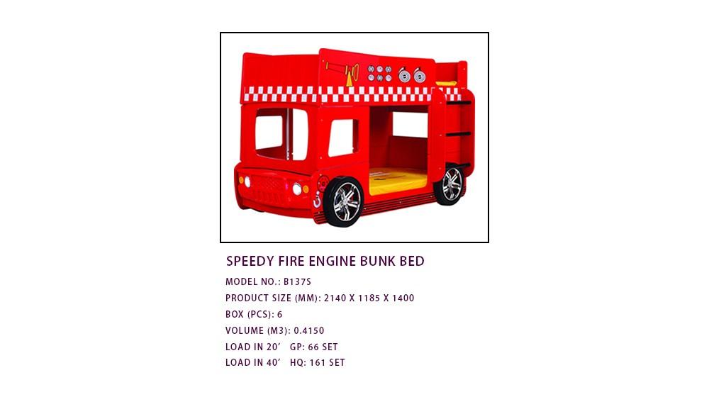 B137s Speedy Fire Engine Bunk Bed